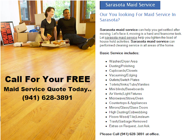 sarasota apartment cleaning service free quote 941 628 3891