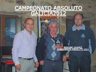 Beningo Suarez Subcampeon Absoluto Galicia P&P