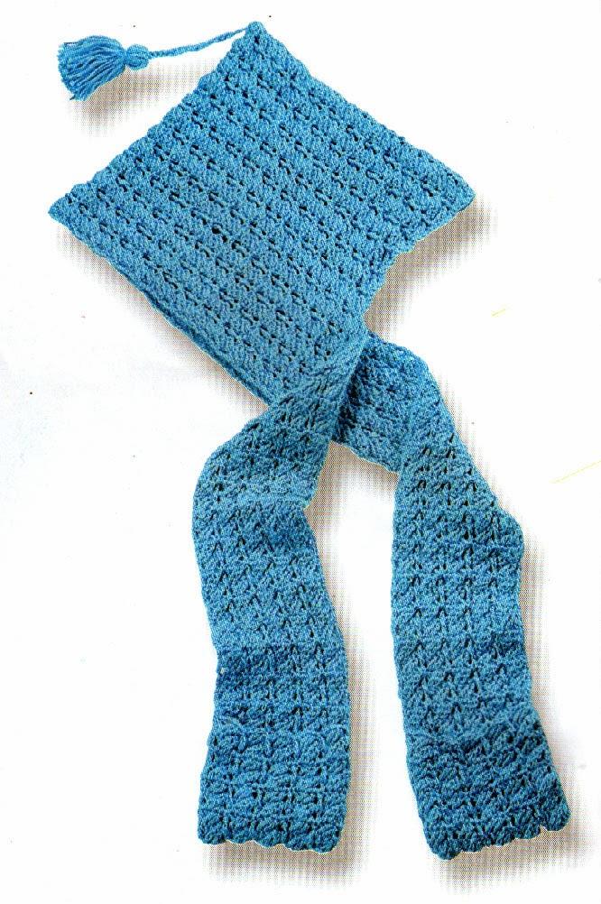 tejidos artesanales en crochet: bufanda con capucha tejida en crochet