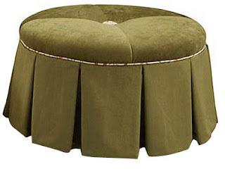 modern upholstered ottoman