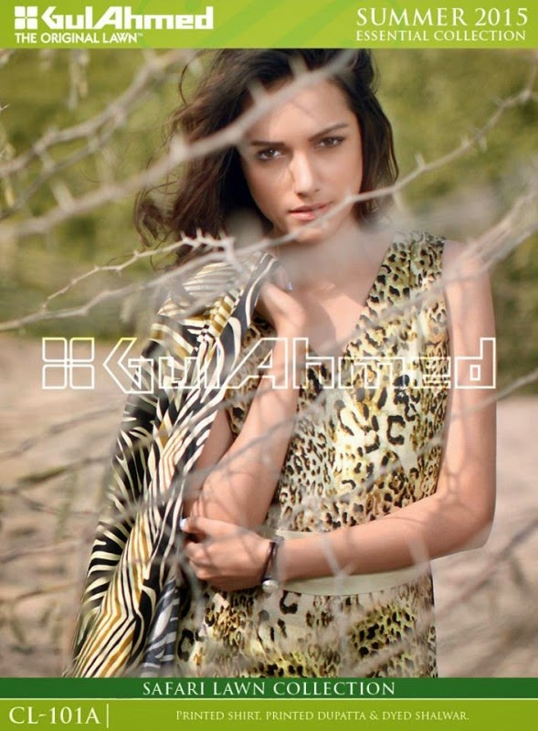 Safari Lawn Summer Collection by Gul Ahmed 2015 3