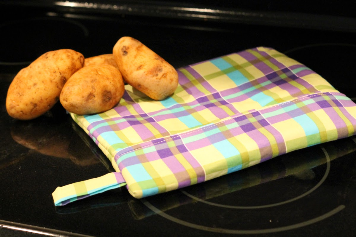 Microwave Potato Sack Tutorial by GYCT
