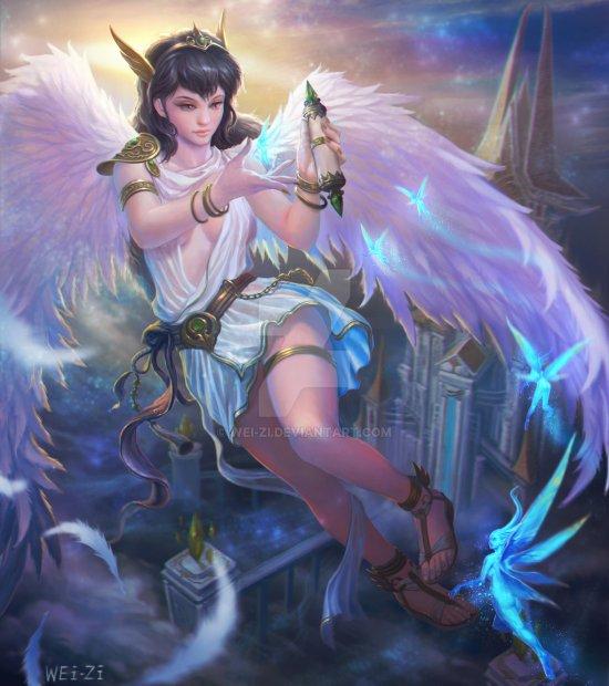 Wei-zi deviantart ilustrações fantasia games diablo dota
