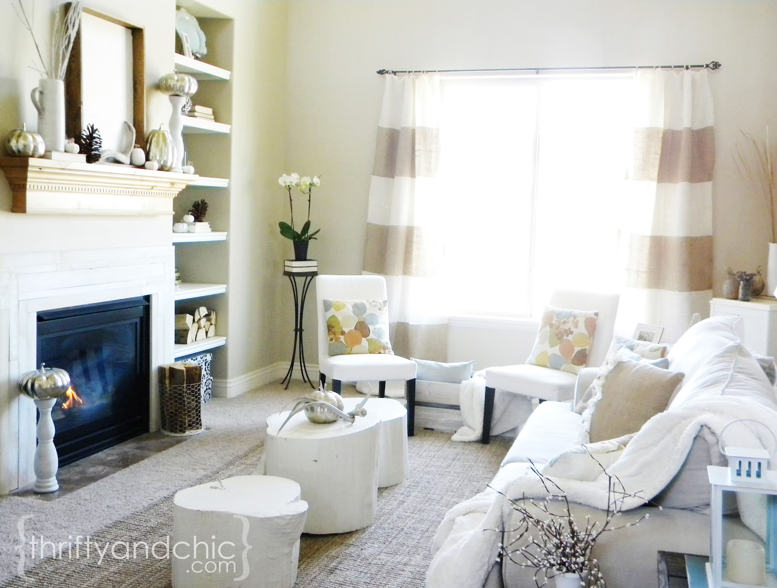 Fall Living Room Decor. Fall Living Room Thrifty and Chic  DIY Projects Home Decor