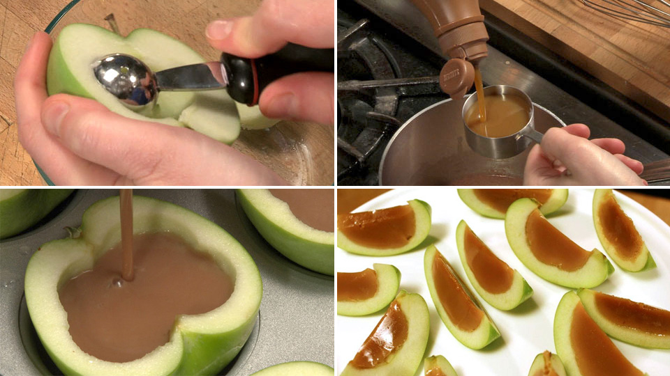inside out caramel apples - Caramel Apple Ideas Halloween