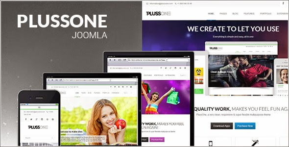 Plussone joomla business template themeforest free blogger plussone joomla business template friedricerecipe Image collections