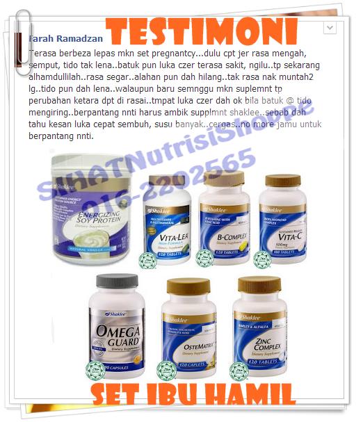 Set Mengandung Shaklee - Vitamin Ibu Hamil