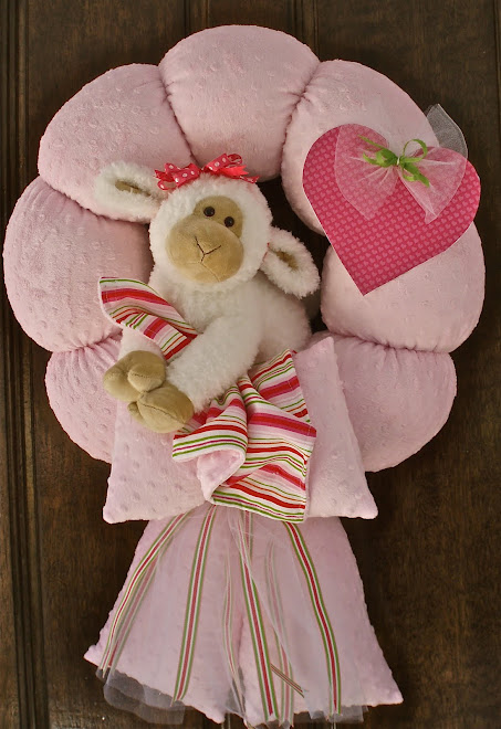 36. Pink Lamb Wreath