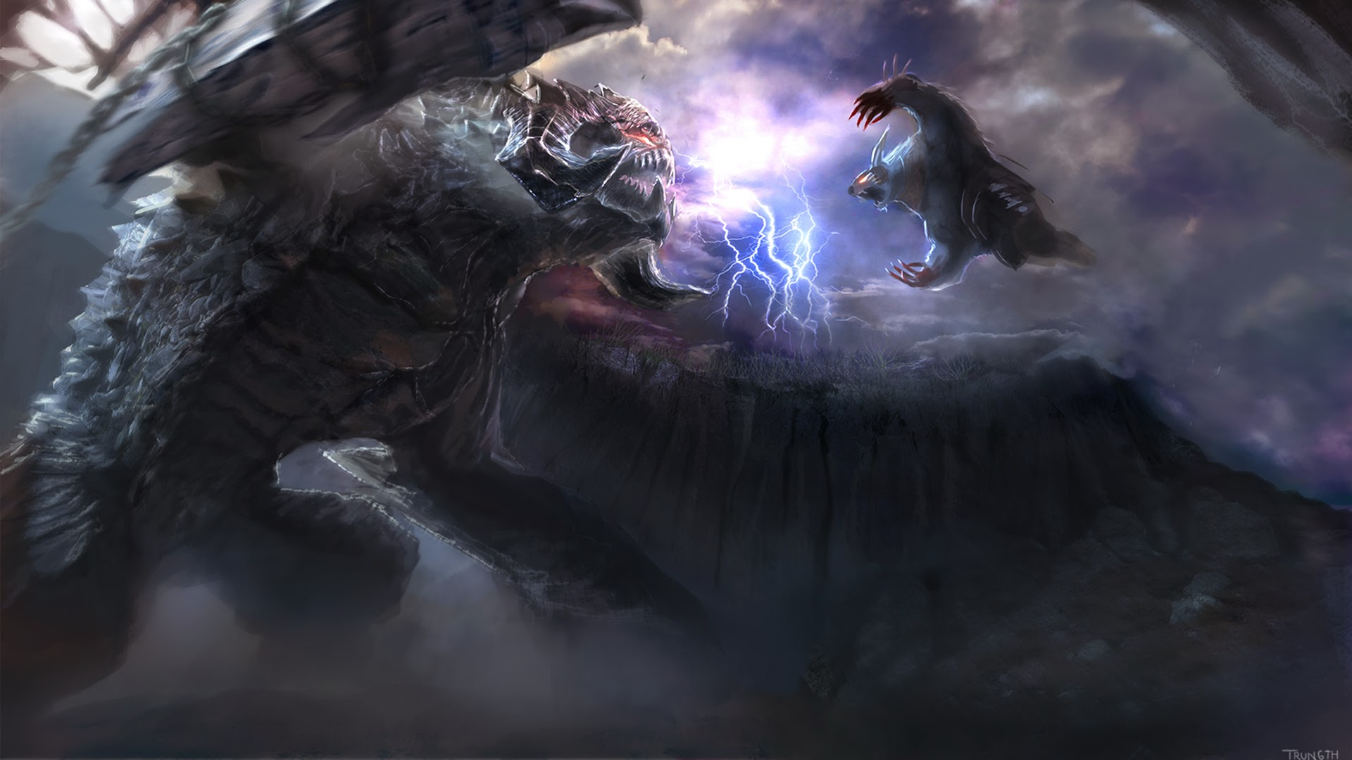 Roshan vs Ursa Dota 2 Clash Fight 18 Wallpaper HD