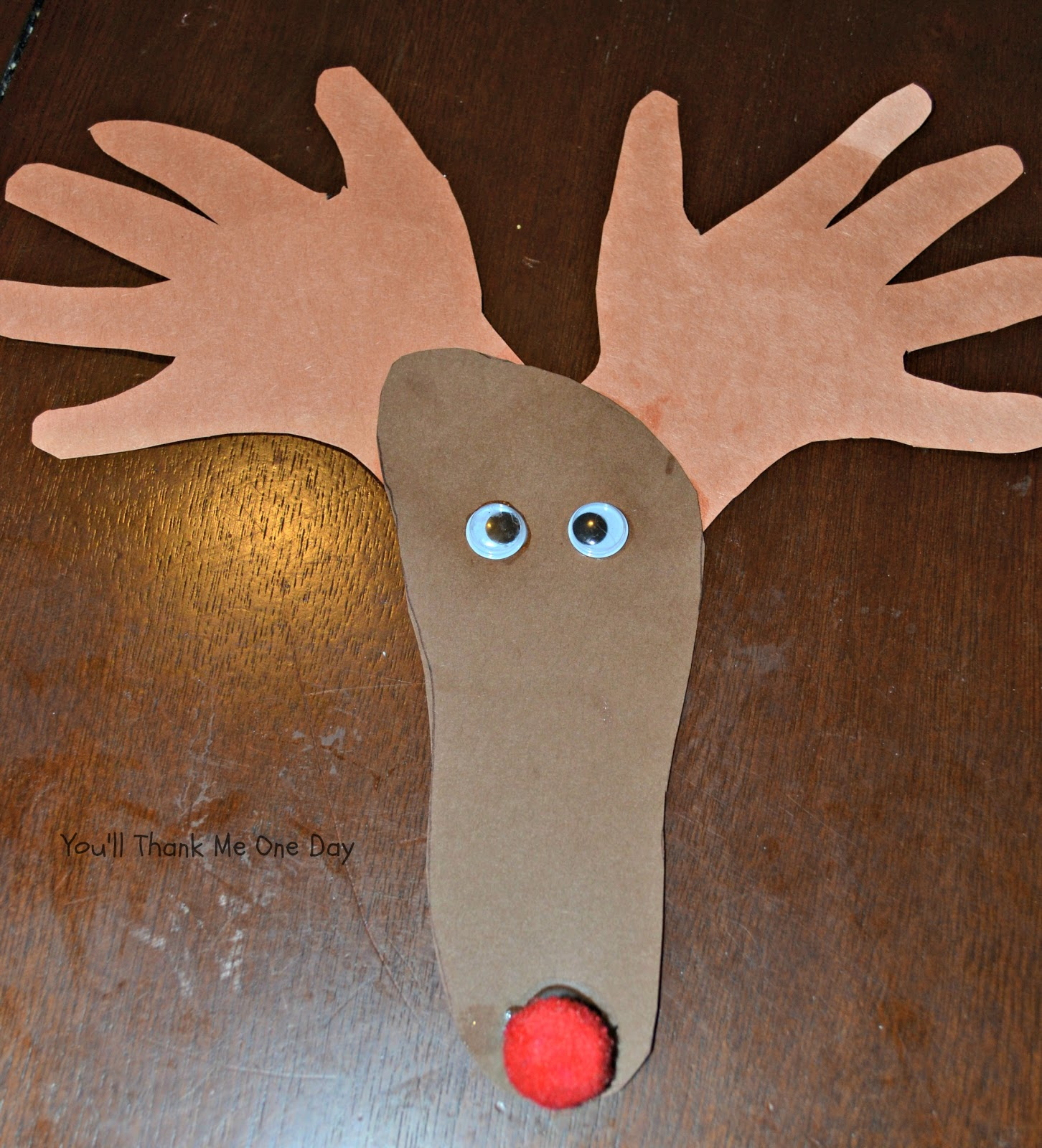 You 39 ll thank me one day reindeer craft for Reindeer project