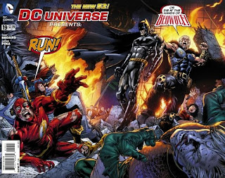 Cover of DC Universe Presents #19 features Beowulf destroying the JLA!