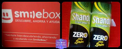 Caja Smilebox y latas de Shandy Zero Cruzcampo