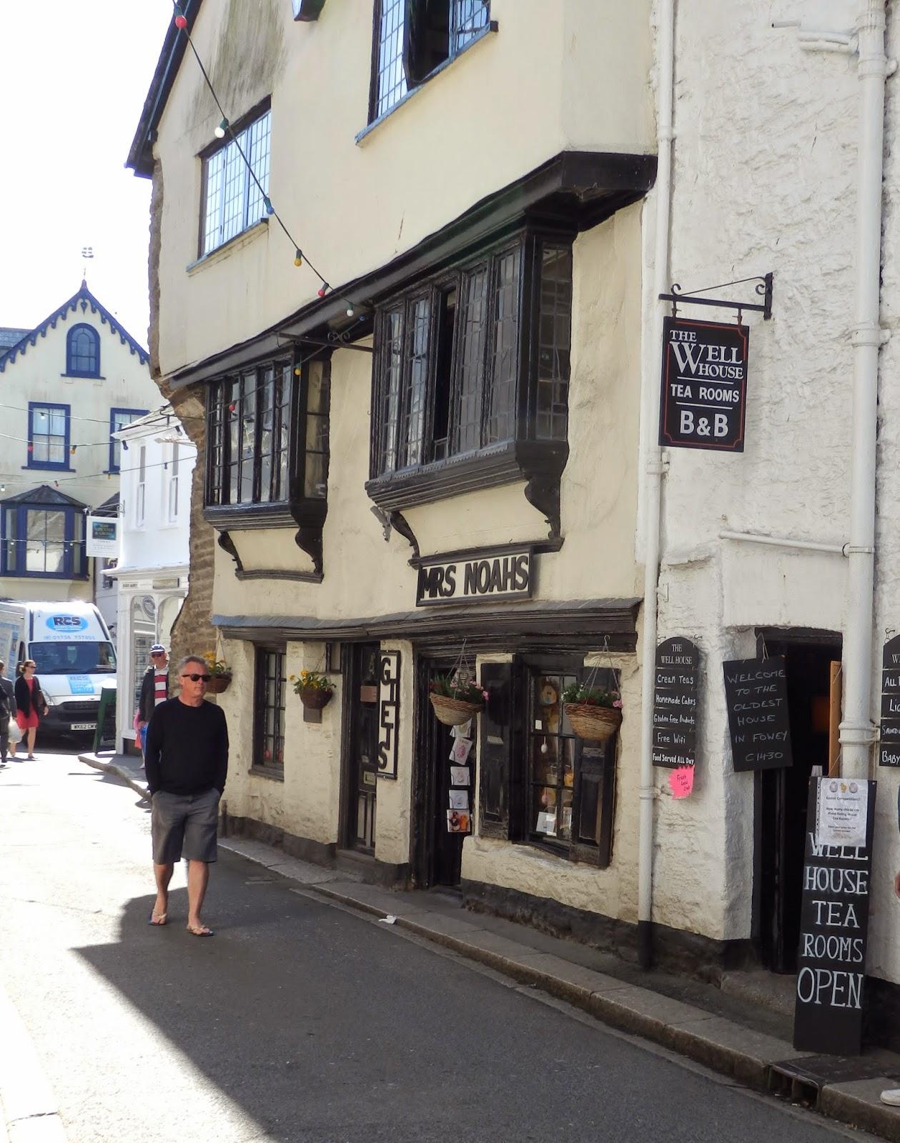 Fowey main street, Cornwall