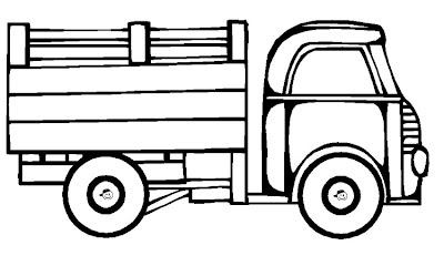 Desenhos Para Colori Caminhões bitorneira bi-trem combi frigorifico utilitarios desenhar