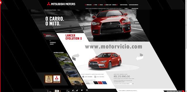 Site Mitsubish - Imagem Exclusiva Motor Vicio