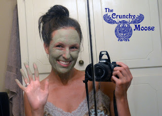 Bentonite Clay Mask Applied - A Homemade Face Mask - thecrunchymoose.com