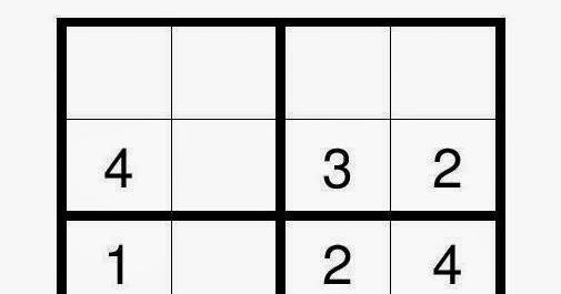 4x4 Sudoku Puzzle - Easy 21 ~ 4x4 Sudoku Puzzle