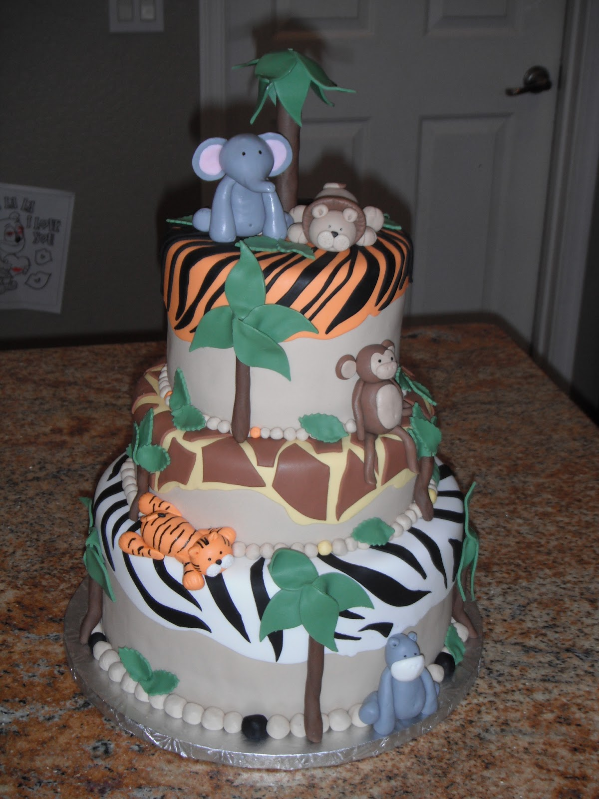 cassy 39 s cakes jungle theme baby shower