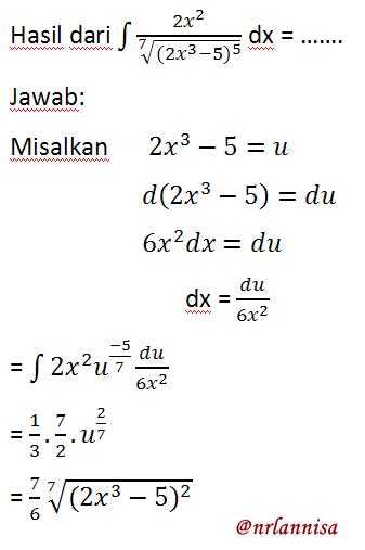 Jawaban Soal Integral Contoh Soal Integral Kelas 11 Contoh Soal Explanation Text Kelas 12 Contoh