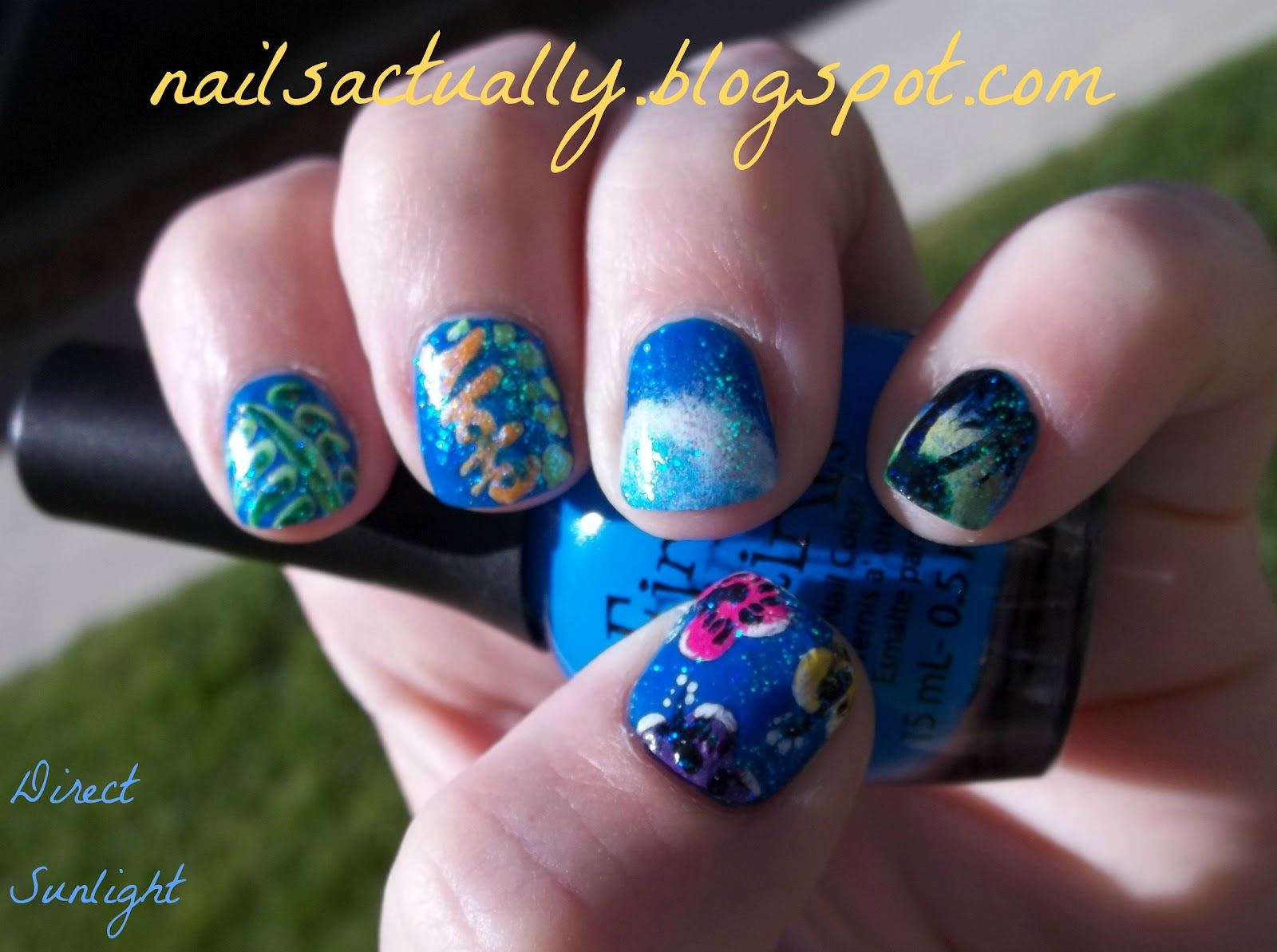 Nails Actually: Tropical Nails aka Hawaiian Nails for tonight\'s luau ...