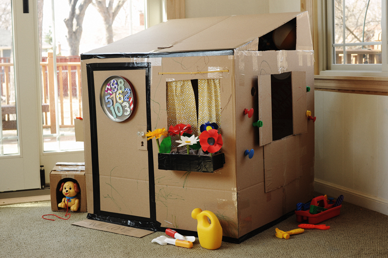 Available Here With Instructions For Building Our Cardboard Playhouse