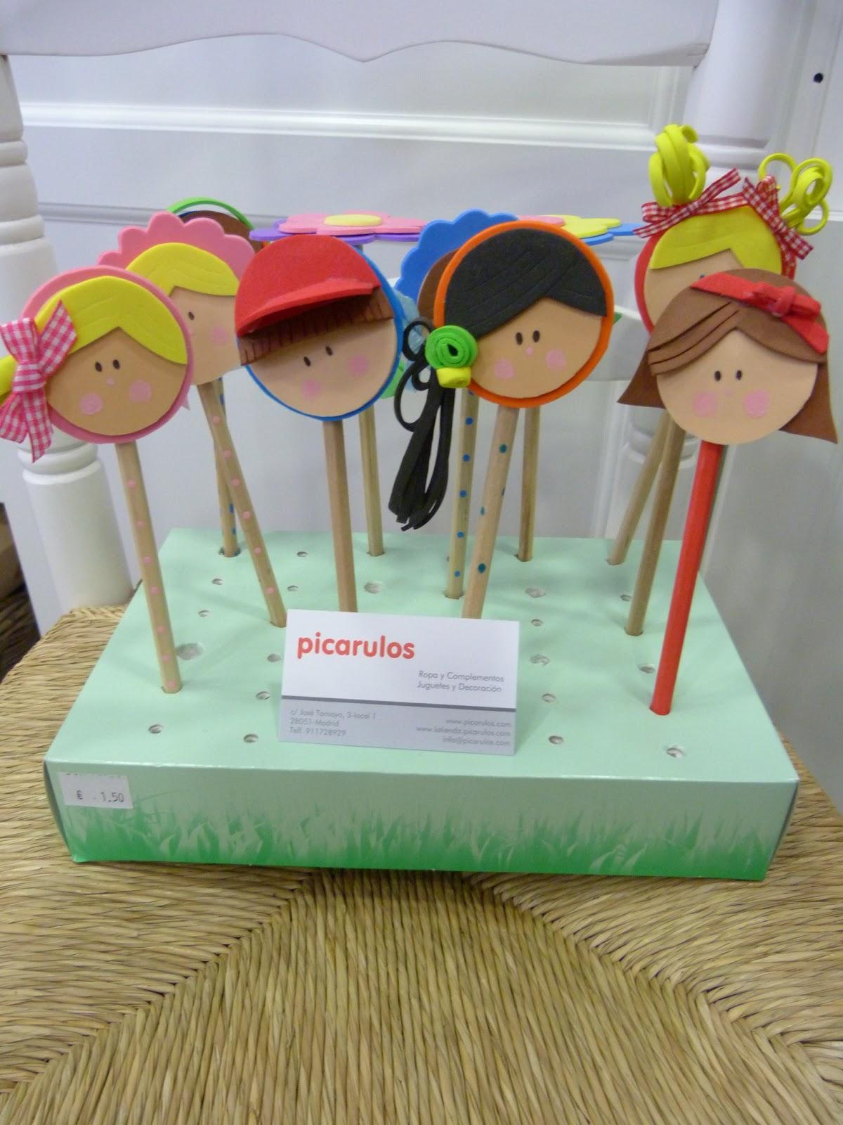 Picarulos lapiceros personalizados for Lapiceros reciclados manualidades