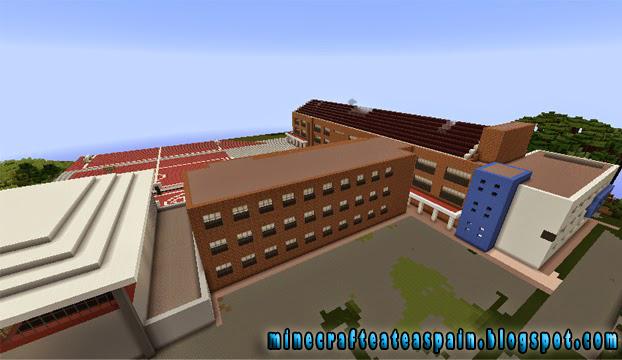 Minecrafteate r plica minecraft del instituto pintor - Trabajos de pintor en madrid ...