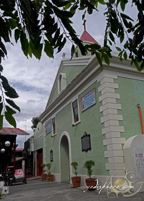 Rebuilt historical Baler Church located at main plaza.