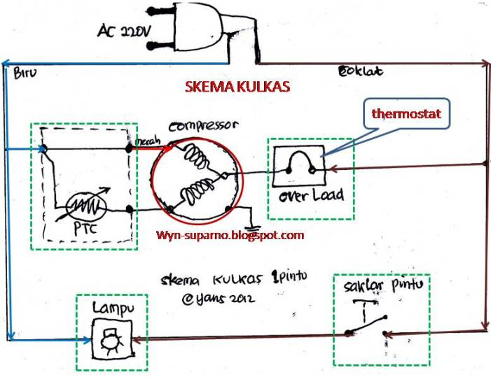 Wiring Diagram Kulkas Sharp