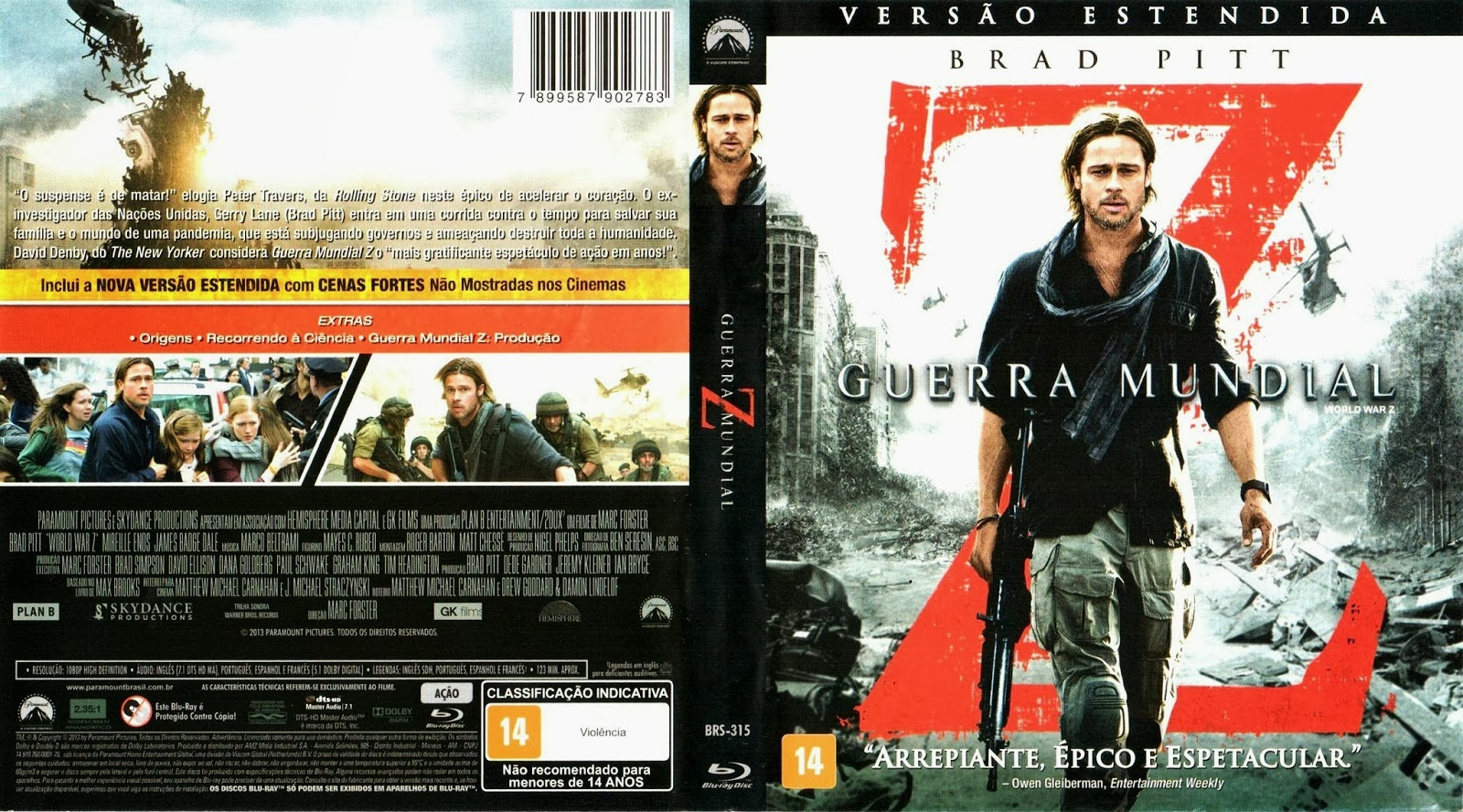 Capa do Dvd Guerra Mundial z Capa Guerra Mundial z Blu