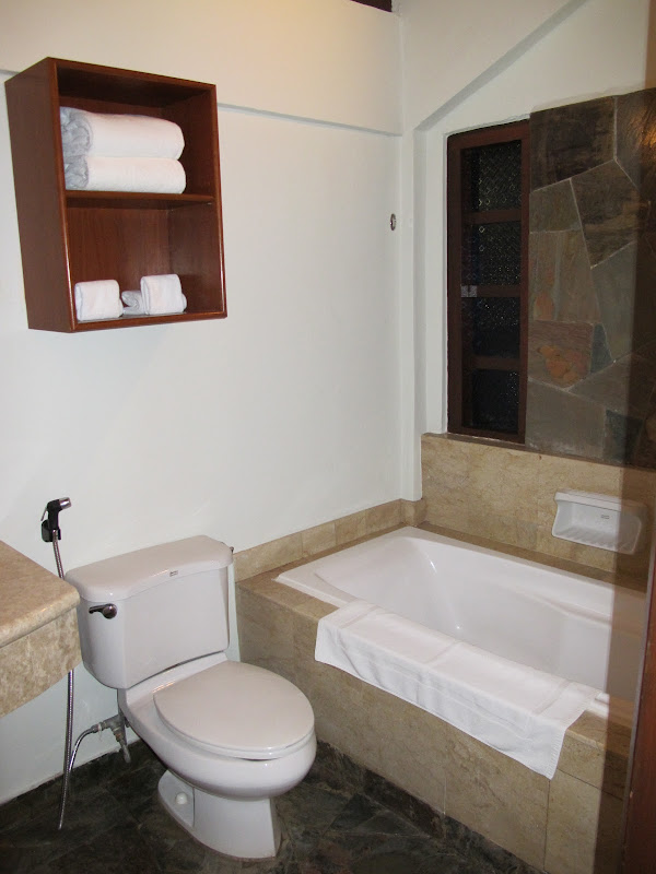 With attached bathroom comes with bath tub title=