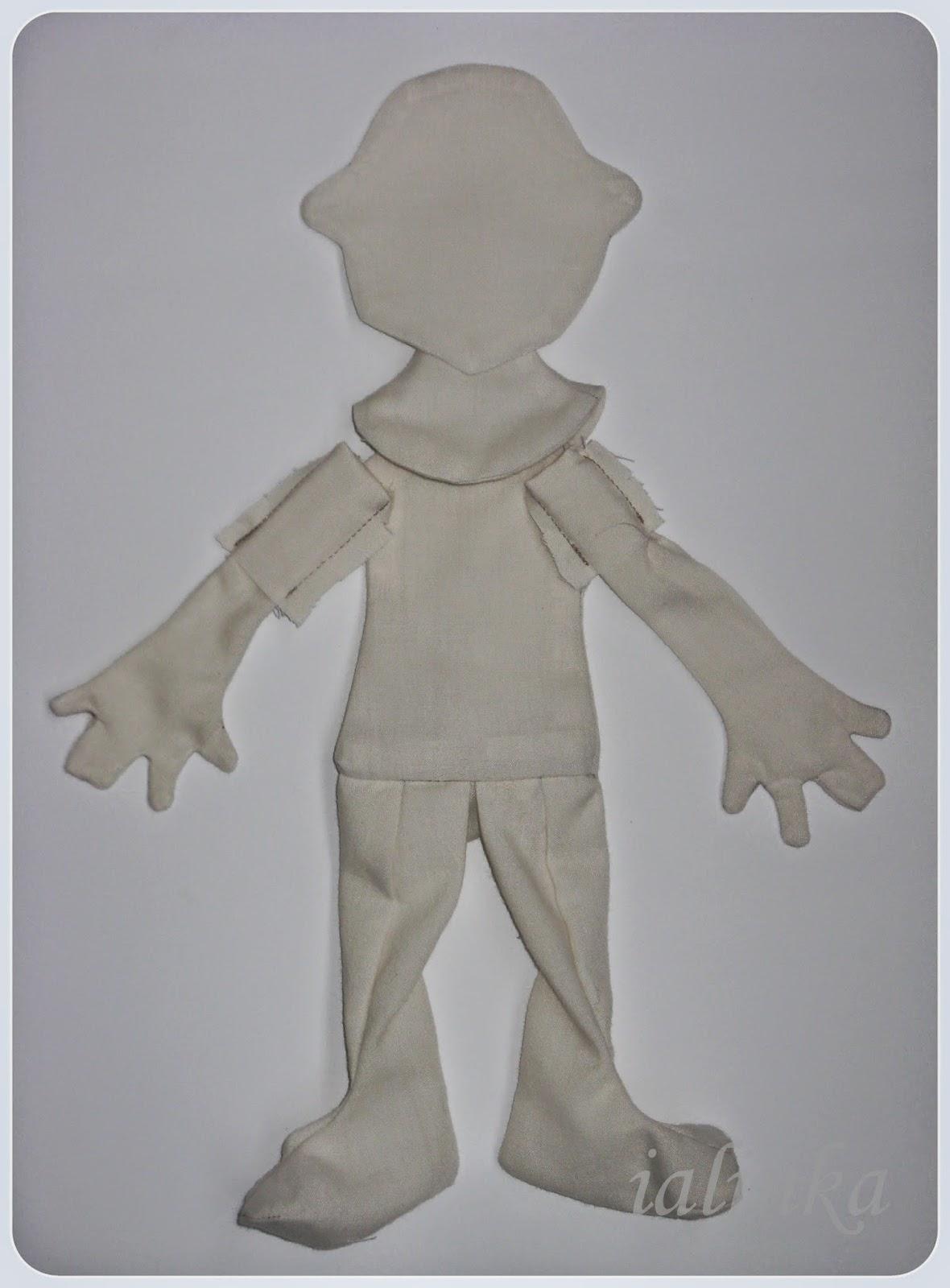 выкройка совместный  пошив  куклы - карамельки