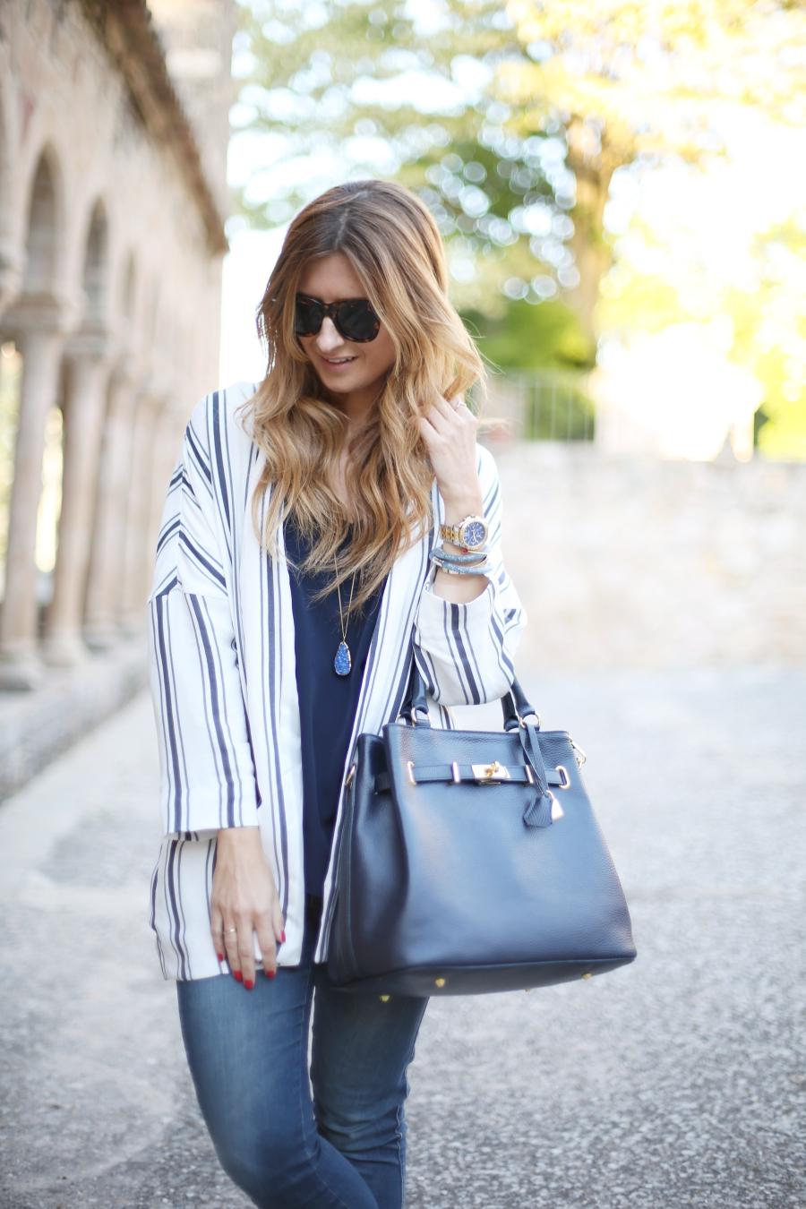 Look en tonos azules