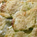 Gratin de ravioles aux courgettes et aux lardons