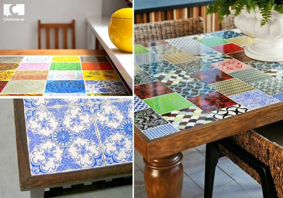 Casa bonita transforma mais 2014 08 10 - Mesas con azulejos ...