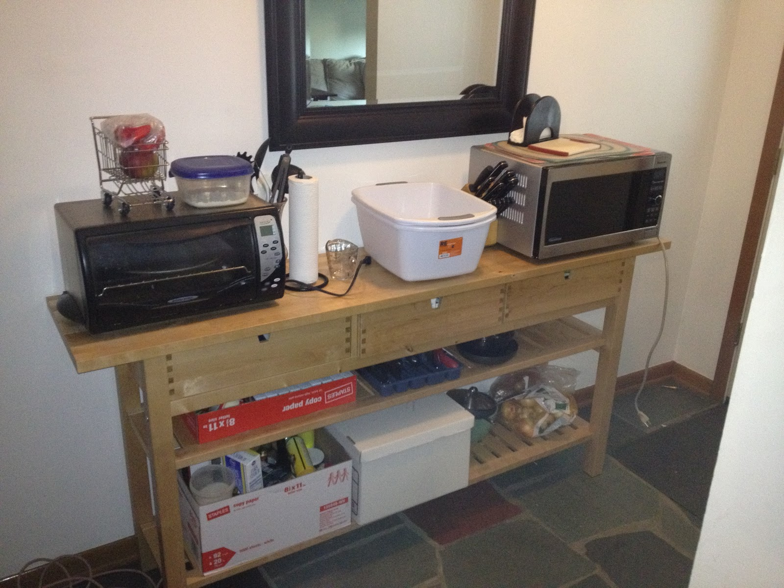 Our Temporary Kitchen