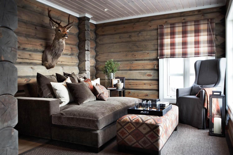 Koselig hyttestil fra slettvoll for Lodge design