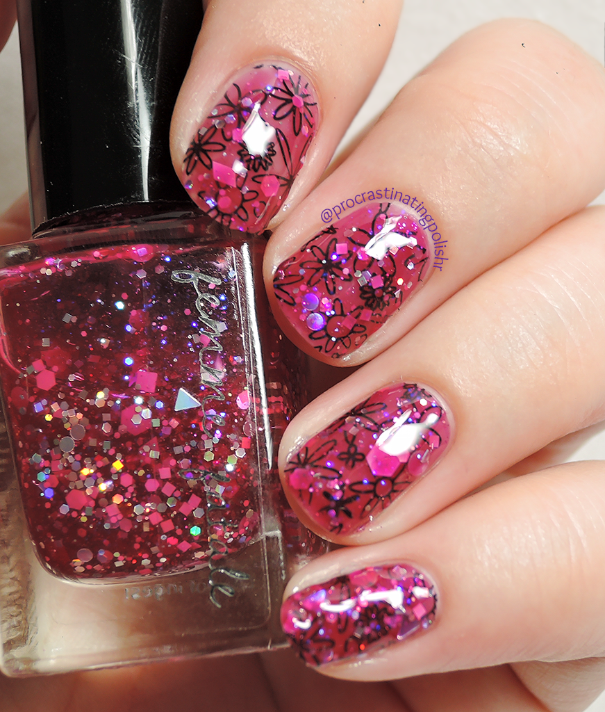 Femme Fatale - Star Pony | Stamped undies nail art