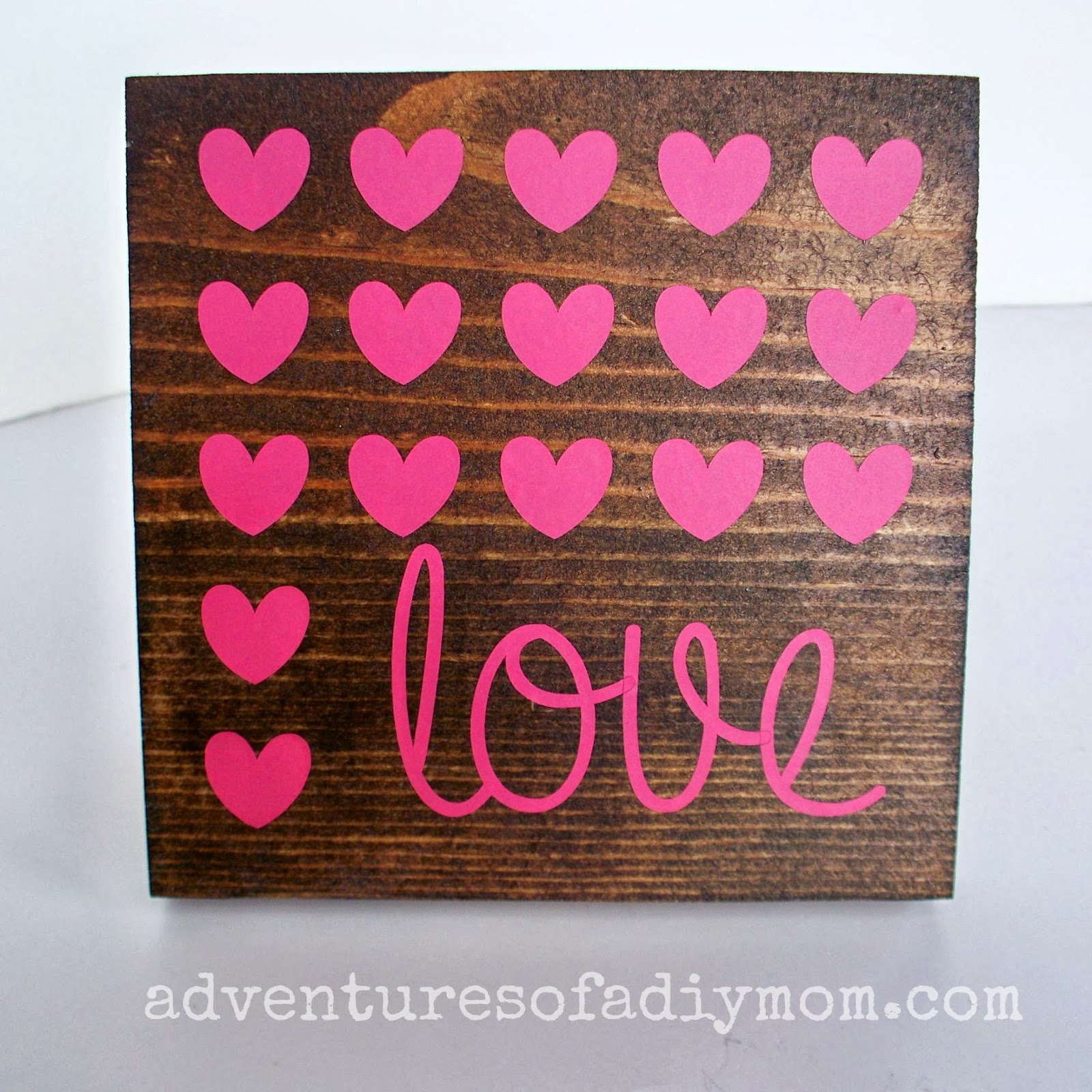 Wood and Vinyl Valentine's Art