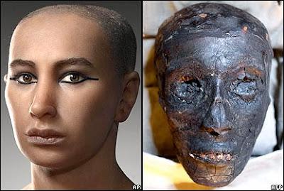 Muka Firaun Tutankhamun