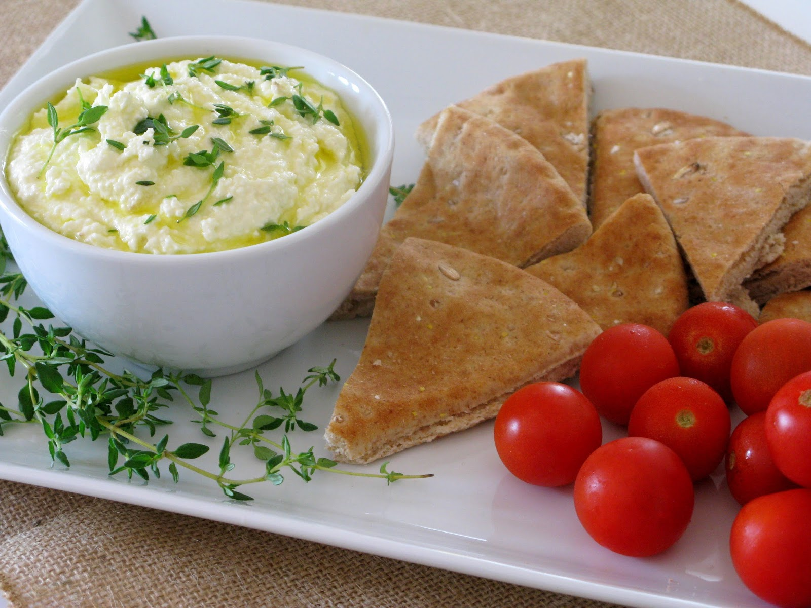Lemon Feta Dip - Love and Bellinis