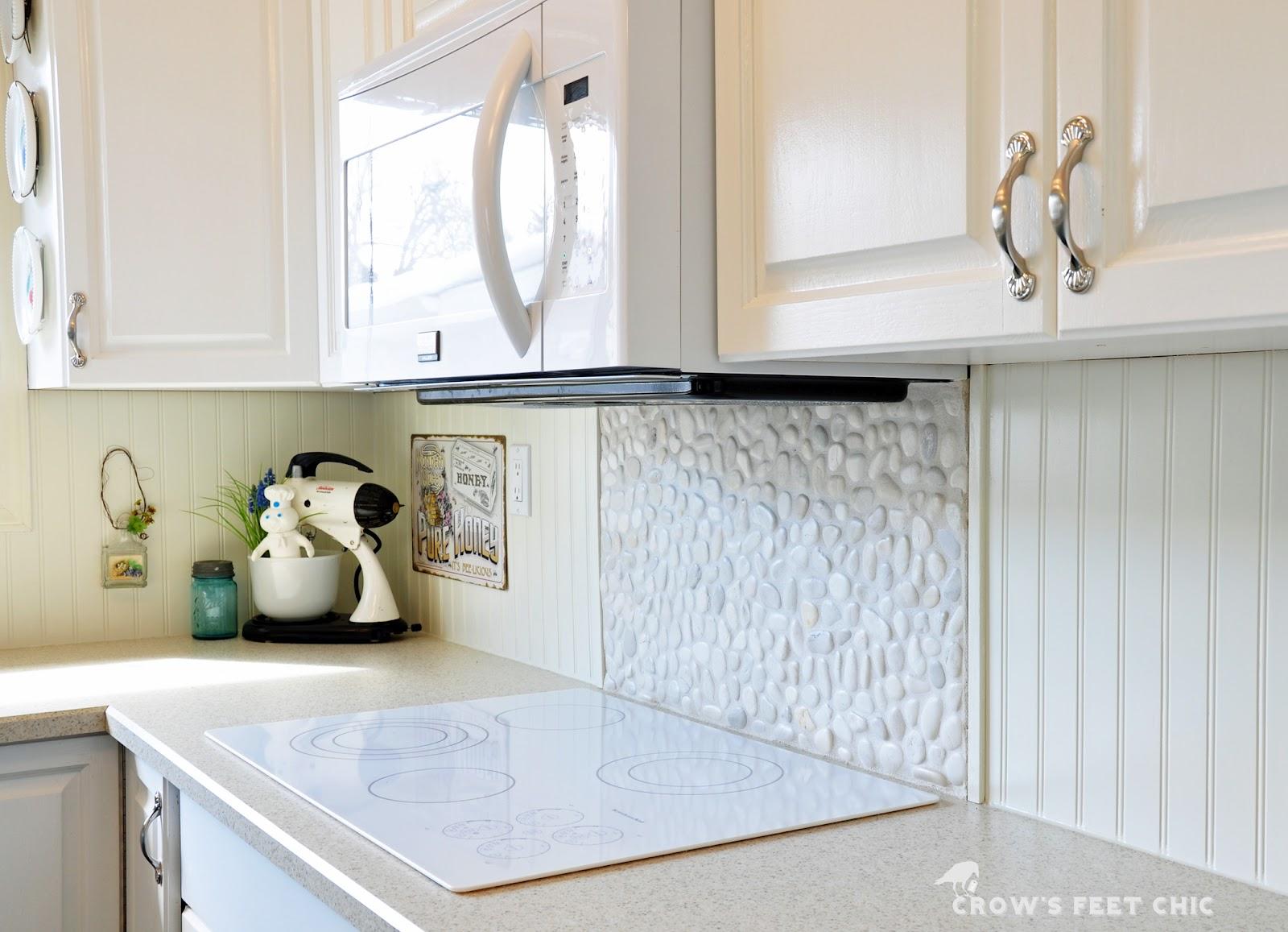 pebble kitchen backsplash vivid black pebble tile kitchen. river
