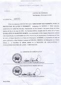 Personería Jurídica de INDATA
