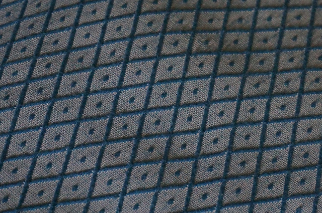 vintage tissu années 60 70 textured double knit fabric diamond 1960 1970