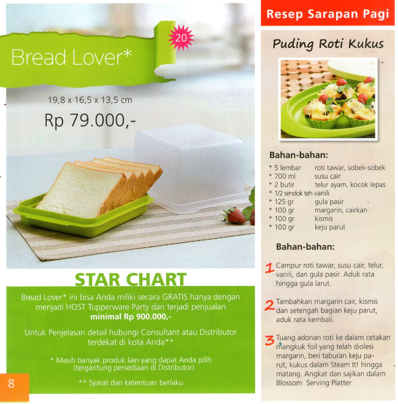 Katalog Tupperware Promo Juni 2013-Bread Lover, tupperwareraya