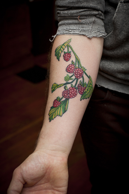 Adam Got This Original Raspberry Tattoo In Honor Of His Grandma