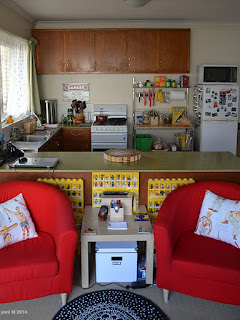 my place: kitchen over lounge chairs
