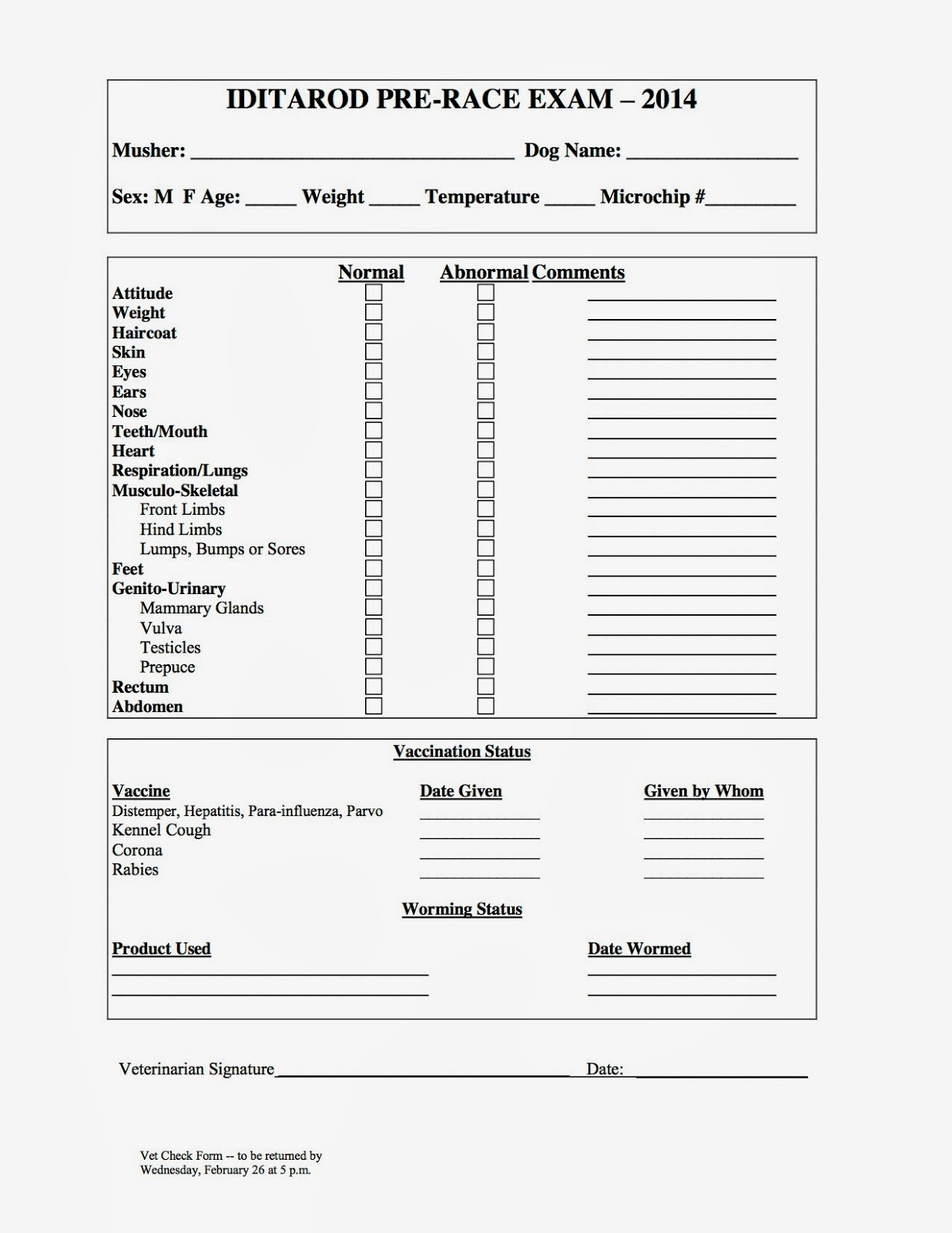 check in sheet