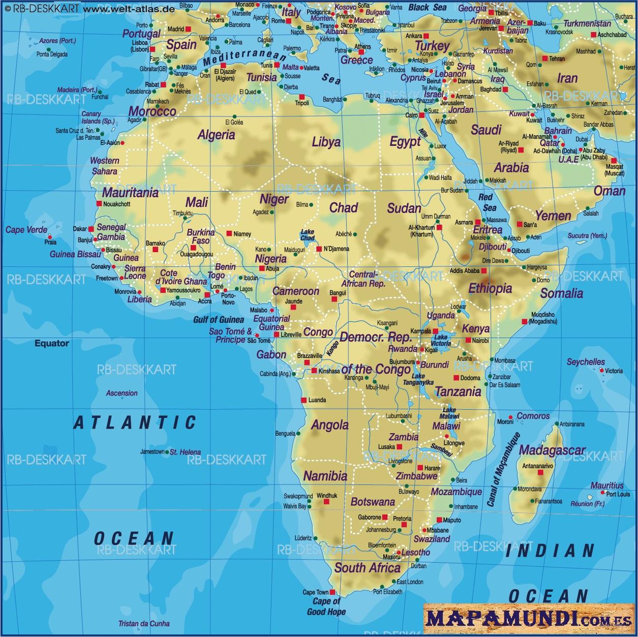 Mapa Mundi De Africa