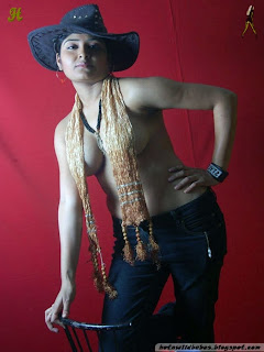 Indian Desi girl nude in hat in  exposed